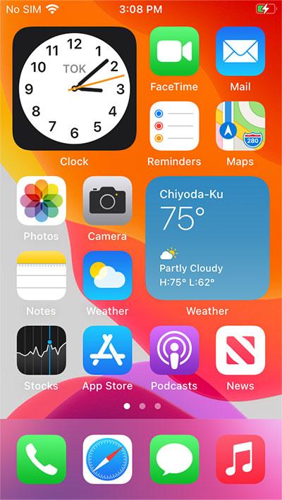 iOSホーム画面